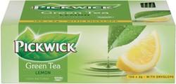 Thee Pickwick groene lemon 100 zakjes van 2 gram.