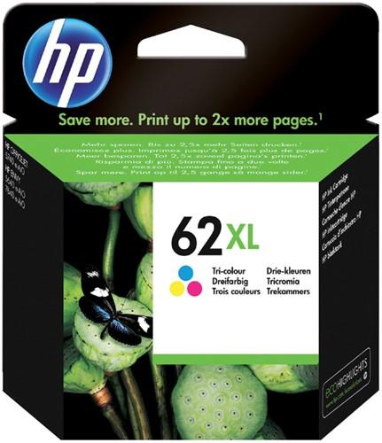 Inktcartridge HP C2P07AE 62XL kleur HC.