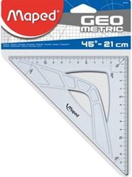Geodriehoek Maped 45 graden 21cm. Afname per 30 stuks.