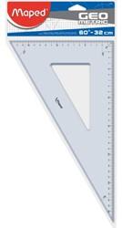 Geodriehoek Maped 60 graden 32cm. Afname per 10 stuks.