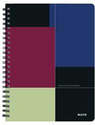 Notitieboek Leitz Executive A4 spiraalgebonden kunststof kaft - 80 vel 90 grams gelijnd papier 4462-00-00.