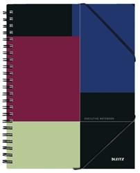 Notitieboek Leitz Executive Be Mobile A4 kunststof kaft - 80 vel 90 grams gelijnd papier 4464-00-00.