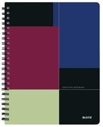 Notitieboek Leitz Executive Get Organised A4 spiraalgebonden kunststof kaft - 80 vel 90 grams gelijnd papier 4466-00-00.