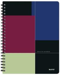 Notitieboek Leitz Executive Project A4 spiraalgebonden kunststof kaft - 80 vel 90 grams gelijnd papier 4468-00-00.