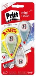 Correctieroller Pritt Mini 4.2mm 2+1 gratis color