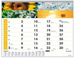 Maandkalender 2018 Quantore 34x43cm motief 4 seizoenen spiraal.