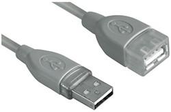 USB kabel Hama USB 2.0 Extension 180cm grijs.