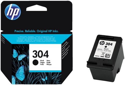 Inktcartridge HP 304 N9K06AE zwart.