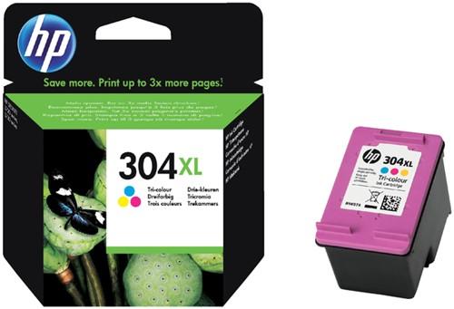 Inktcartridge HP 304XL N9K07AE kleur.