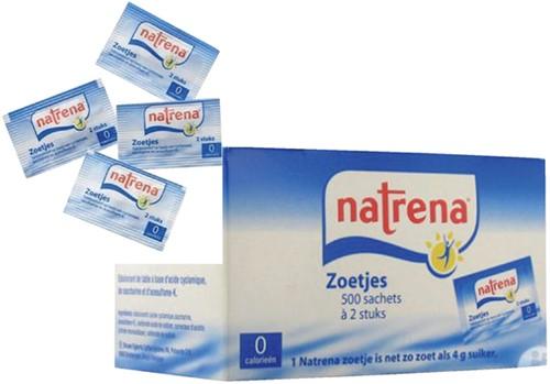 Zoetjes Natrena 500 sachets met 2 stuks.