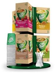 Cup-a-soup carroussel inclusief 50 bekertjes, roerstaafjes en  6 doos Cup-A-Soup.