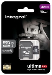 Geheugenkaart Integral Micro SDHC class10 32GB.