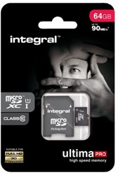 Geheugenkaart Integral Micro SDXC class10 64GB.