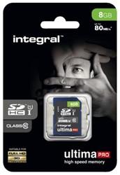 Geheugenkaart Integral SDHC class10 8GB.