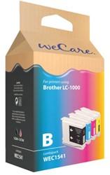 Inktcartridge WECARE LC-1000 zwart + 3 kleuren (Brother).