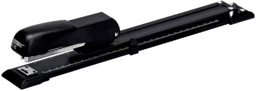 Nietmachine Rapid E15 langarm 20 vel 24/6 zwart.