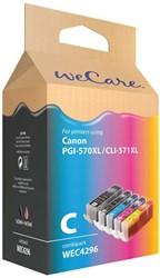 Inktcartridge Wecare PGI-570XL CLI-571XL zwart + kleur (Canon).