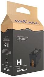 Inktcartridge WECARE 302XL F6068AE zwart HC (HP).