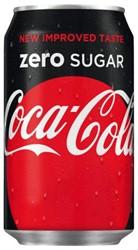 Frisdrank Coca Cola Zero blikje van 0.33 liter.
