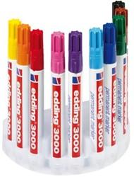 Permanent marker Edding 3000 rond 1.5-3mm assorti kleuren 10 stuks.
