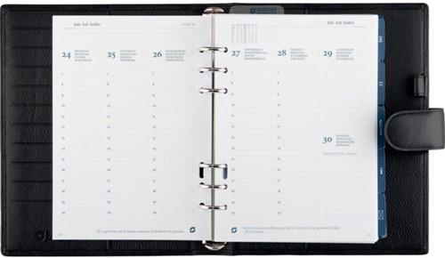 Agenda omslag Succes A5 model Cadiz incl. inhoud 2020 7d/2pag - Mat rundleer in de kleur zwart - mechaniek: 25mm OE212CI02.20.