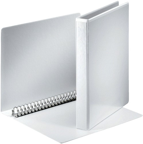 Panoramaringband Esselte 23-rings A4-20mm wit voorzien van 2 tassen.