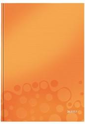 Notitieboek Leitz WOW A4  harde kaft oranje - 80 vel 90 grams gelijnd papier.