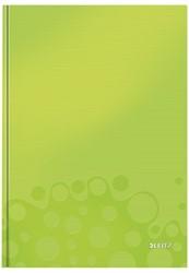 Notitieboek Leitz WOW A4  harde kaft groen - 80 vel 90 grams gelijnd papier.