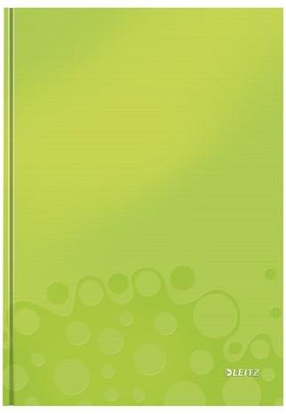 Notitieboek Leitz WOW A4  harde kaft groen - 80 vel 90 grams gelijnd papier (model/kleur 2019).