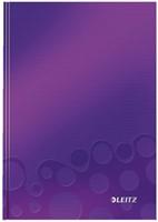 Notitieboek Leitz WOW A5 harde kaft paars - 80 vel 90 grams gelijnd papier.