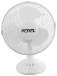 Tafelventilator Perel 30cm 40W 3-snelheden wit.