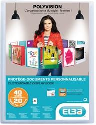 Showalbum Elba Polyvision A4 20-tassen transparant.