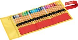 Fineliner Stabilo 88 25 stuks assorti geel/oranje.
