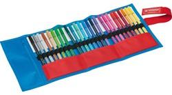 Viltstift Stabilo Fan Edition blauw assorti kleuren 25 stuks.