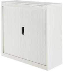 Roldeurkast Nice Price office 30H 120x123x45cm wit met topblad wit excl. legborden.