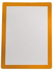 Zichtframe zelfklevend Flex-O-Frame Sign 7970013 2 stuks A4 oranje. Afname per 3 blisters.