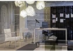 Bureau NPO Fyra instelbaar 200x100cm wit frame wit blad.