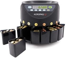Geldtelmachine Acropaq CC601 voor munten zwart.