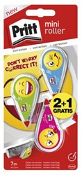 Correctieroller Pritt Mini Emoji 4.2mm blister 2+1 gratis.
