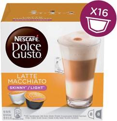Koffiecups Dolce Gusto Latte Machiato Light 16 cups voor 8 kop.