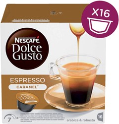 Koffiecups Dolce Gusto Espresso Caramel 16 cups.