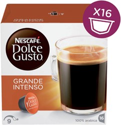 Koffiecups Dolce Gusto Grande Intenso 16 cups.
