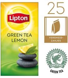 Thee Lipton Green tea lemon met envelop 25 stuks.