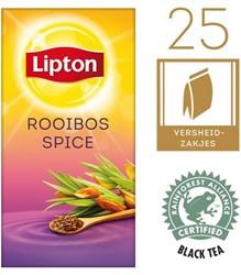 Thee Lipton Rooibos met envelop 25 stuks.