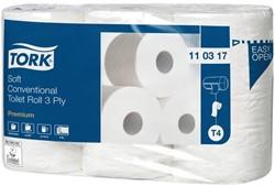 Toiletpapier Tork T4 110317 3-laags Premium 42 rollen.