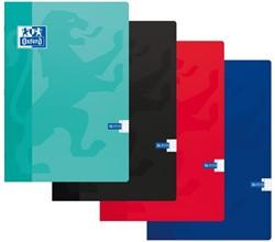 Schrift Oxford school A4 soepele kartonnen kaft in assorti kleuren - 36 vel 90 grams 5mm geruit papier.