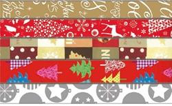 Kerstpapier 200x70cm assorti kleuren.