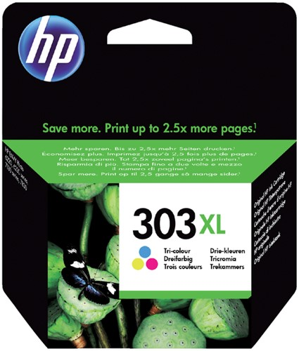 Inktcartridge HP T6N03AE 303XL kleur HC.