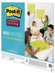 Scrum Big Notes 3M Post-it 55.8x55.8cm neon groen. Afname per 6 pak.