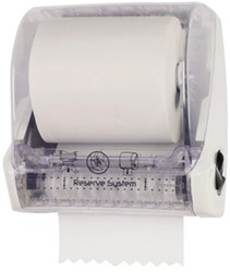 Dispenser Primesource handdoekrol Classic wit.